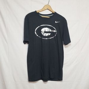 Georgia university metallic black Nike shirt MED